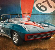 Blue Corvette Stingray by Stuart Row