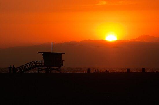 Sunset at Santa Monica by mattiaterrando