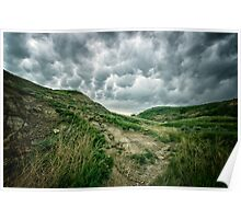 Clouds Through Horseshoe Canyon Poster