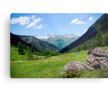 View over the mountain tops Metal Print