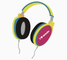 HOUSE MUSIC HEADPHONES (for light color shirts) by madeofthoughts
