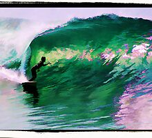 Surfing Huntington Beach by surfcityres