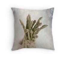 Still Life #2 ; Asparagus Throw Pillow
