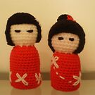 Crochet Kokeshi II by Meaghan Louise