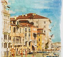 Grand Canal (Watercolour) by Stephen Knowles