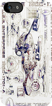 Enterprise A Vintage Schematic  by retropopsugar