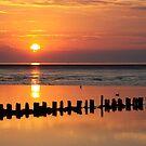 Sunset Wadden Sea by Jo Nijenhuis