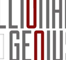 Genius Billionaire Playboy Philanthropist [Dark/Red] Sticker