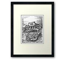 VW junkyard Framed Print