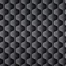 Black And Gray Geometric Shapes Pattern by artonwear