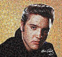 Mosaic of Elvis Presley by Mdgraphix