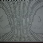 Unfinished attempt at Alex Grey's 'Bardo Being' by qwerty616