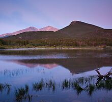 Sunrise at Lily Lake in Rocky Mountain National Park by Teresa Smith
