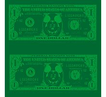 Disney Dollars Photographic Print