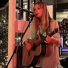 Chambers Cafe - Playing A Guitar 3  by rsangsterkelly