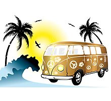 VW T1 on the beach Photographic Print