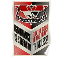 INGSOC Ignorance Is Strength Poster