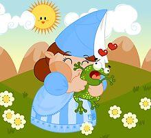 kissing the enchanted frog by alapapaju