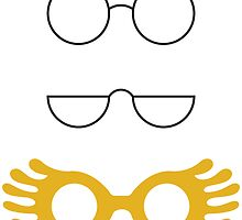 Glasses from Harry Potter- Yellow by freebooksy