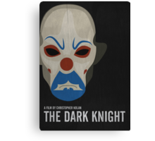 The Dark Knight - Minimalist Movie Poster Canvas Print