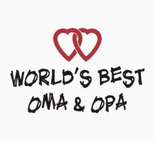 World's Best Oma & Opa T-Shirt by HolidayT-Shirts