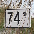 Mile Marker At Oak Island Beach by Cynthia48