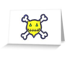 Percentum Skull & Xbones1 Greeting Card