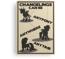 Changelings Can Canvas Print
