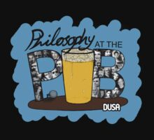 Philosophy Club Scribble Tee (no Tagline) by philoatthepub