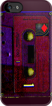 Purple Old School Cassette Tape by HighDesign