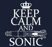 Keep Calm and Sonic Kids Clothes