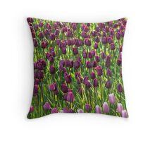 Tulip Field Tulips Violet Dark Purple Purple Throw Pillow