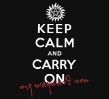 Keep Calm And Carry On My Wayward Son by Leylaaslan