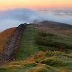 Winshields Crag on Hadrian's Wall by Joan Thirlaway