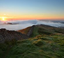 Hadrian's Wall from Winshields Crag - c9 by Joan Thirlaway