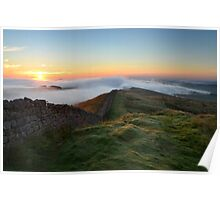 Hadrian's Wall from Winshields Crag - c9 Poster