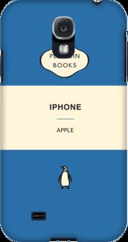 Iphone Penguin Classic Case Blue by Simon Westlake