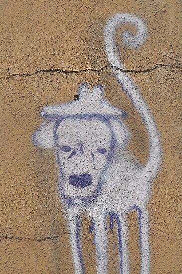 Graffiti Cute Dog by Ana  Eugénio