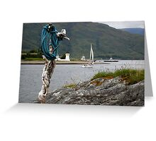 Yacht on loch linhie Greeting Card