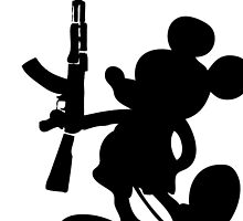 Mickey Mouse and the AK-47 by Balogh Domonkos