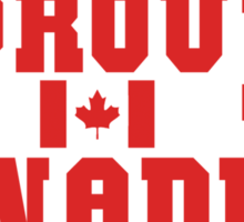 Proud Canadian T-Shirt Sticker
