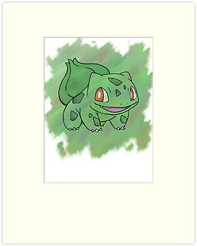 Watercolour Bulbasaur by Colossal