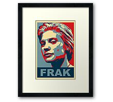 Starbuck: Frak (Battlestar Galactica) Framed Print
