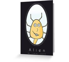 Friendly Facehugger from Alien Greeting Card