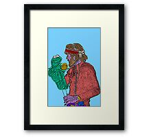 Jim Henson Kermit the Frog Culture Cloth Zinc Collection Framed Print