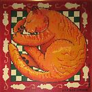 Cat Dreaming (needlepoint) by vickymount