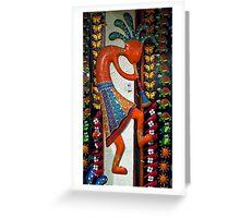 Kokopelli Dancer Greeting Card