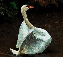 The Papier-Mache Swan by PictureNZ