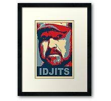 Bobby Singer: Idjits! (Supernatural) Framed Print