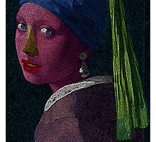 Girl With The Pearl Earring Vermer Culture Cloth Zinc Collection by CultureCloth